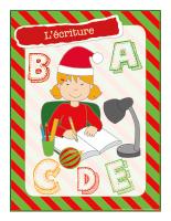 Affiche-Noël-Ateliers créatifs-L'écriture