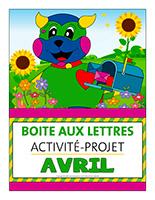Affiche-boite aux lettres-Activité-projet-avril