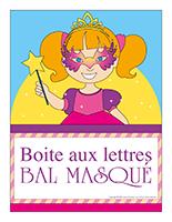 Affiche-boite aux lettres-Bal masqué