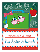 Affiche boite aux lettres-La boite à lunch