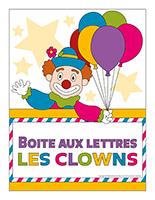 Affiche-boite aux lettres-Les clowns