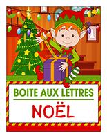 Affiche-boite aux lettres-Noël-Les décorations