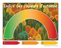 Affiche-indice des couleurs d'automne