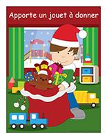 Affiche-jouet à donner-Noël-Le partage