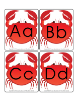 Affiche-l'alphabet crabe