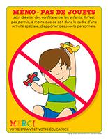 Affiche-mémo pas de jouets