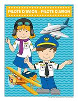 Affiche-pilote d'avion-pilote d'avion
