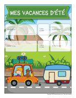 Affiche rappel-Mes vacances d'été