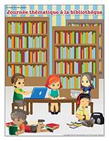 Affiche thématique-Journée thématique-À la bibliothèque