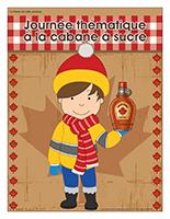 Affiche thématique-Journée thématique-À la cabane à sucre