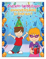 Affiche thématique-Journée thématique-Anniversaire d'enfant