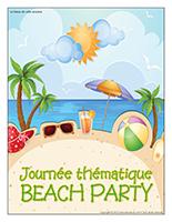 Affiche thématique-Journée thématique-Beach party