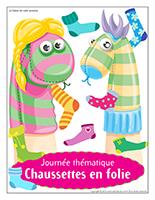Affiche thématique-Journée thématique-Chaussettes en folie