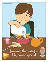 Affiche thématique-Journée thématique-Déjeuner spécial