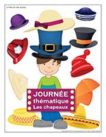 Affiche thématique-Journée thématique-Les chapeaux