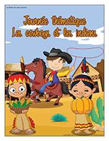 Affiche thématique-Journée thématique-Les cowboys et les Indiens