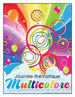 Affiche thématique-Journée thématique-Multicolore