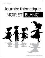 Affiche thématique-Journée thématique-Noir et blanc