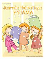 Affiche thématique-Journée thématique-Pyjama