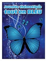 Affiche thématique-Journée thématique-Tout en bleu