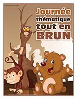 Affiche thématique-Journée thématique-Tout en brun