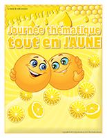 Affiche thématique-Journée thématique-Tout en jaune