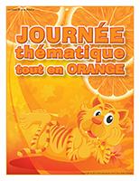 Affiche thématique-Journée thématique-Tout en orange