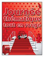 Affiche thématique-Journée thématique-Tout en rouge