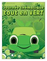 Affiche thématique-Journée thématique-Tout en vert