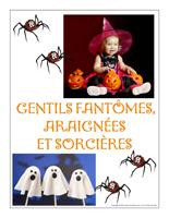 Affiche thématique poupon-Gentils fantômes araignées et sorcières