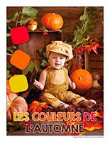 Affiche thematique poupon-Les couleurs de l'automne