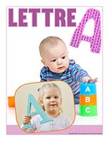 Affiche thematique poupons-Abecedaire-Lettre A