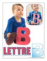 Affiche thematique poupons-Abecedaire-Lettre B