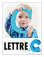 Affiche thematique poupons-Abecedaire Lettre C