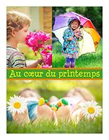 Affiche thématique poupons-Au coeur du printemps
