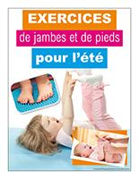 Affiche thématique-poupons-Exercices de jambes et de pieds pour l'été
