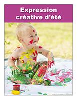 Affiche thématique poupons-Expression créative d'été
