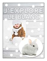 Affiche-thématique poupons-J'explore le blanc