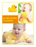Affiche thématique poupons-Je découvre le jaune