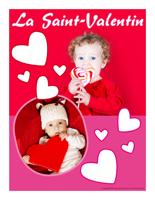 Affiche thématique poupons-La Saint-valentin