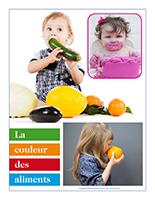 Affiche thématique poupons-La couleur des aliments