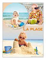 Affiche thématique poupons-La plage