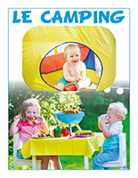 Affiche thematique-poupons-Le camping