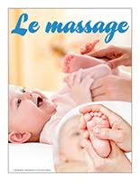 Affiche thématique poupons-Le massage