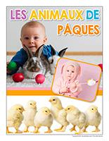 Affiche thematique poupons-Les animaux de Paques