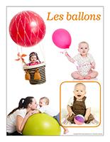 Affiche thématique poupons-Les ballons