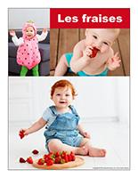 Affiche thématique poupons-Les fraises