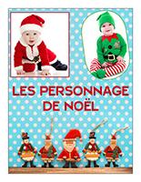 Affiche thématique poupons-Les personnages de Noël