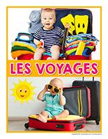 Affiche thematique poupons-Les voyages
