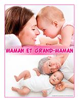 Affiche thématique poupons-Maman et grand-maman